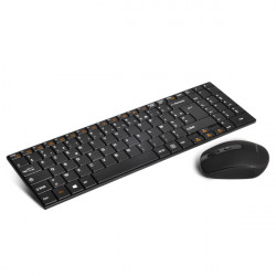 Clavier plat+M.Souris S.fil ADVANCE Wireless Combo Ref   CLS-SLIM-BK