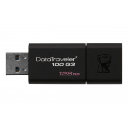 Cles 128 Go USB 3.0 KINGSTON Rétractable DataTraveler 100 G3 Réf   DT100G3 128GB